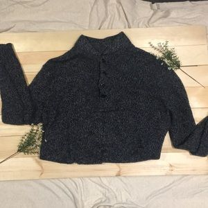 Converse Oversized Knit Buttoned Collared Sweater